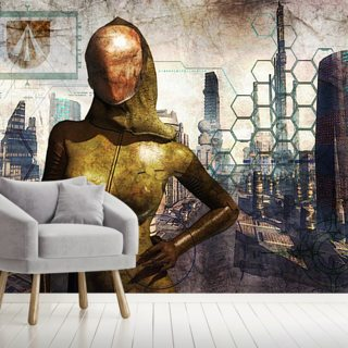 Cyber Queen Wallpaper Wall Murals