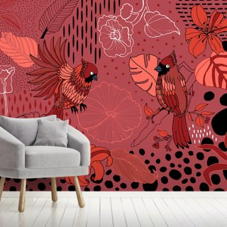 Soul Birds Cardinal Wallpaper Wall Murals
