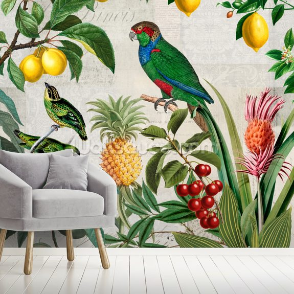 Fruit Paradise wallpaper mural room setting