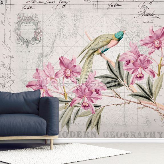 Voyage of Discovery wallpaper mural room setting