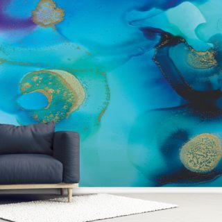 Deep Blue Wallpaper Wall Murals