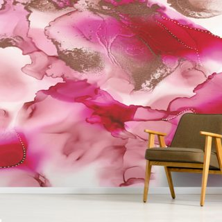 Pink Peonies Wallpaper Wall Murals
