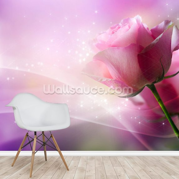 Vibrant Roses wallpaper mural room setting