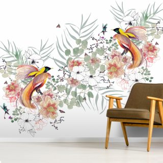 Bird of Paradise Wallpaper Wall Murals