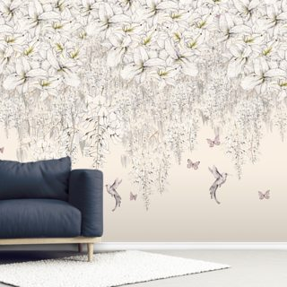 Sweet Lilies Wallpaper Wall Murals