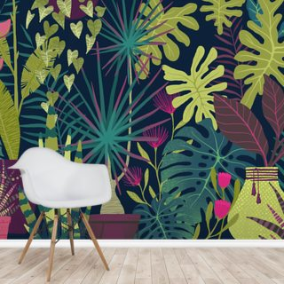 Moody Foliage Wallpaper Wall Murals
