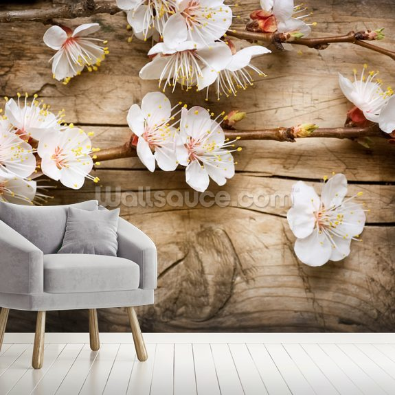 Spring Blossom wall mural room setting