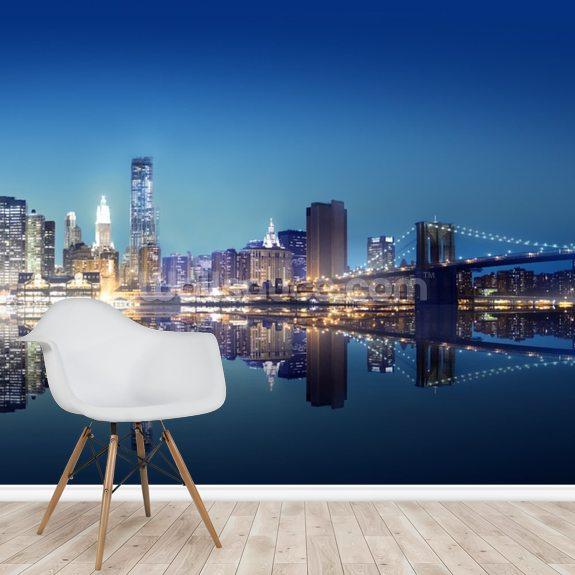 New York City Scenic Bridge Wall Mural Wallsauce Ae