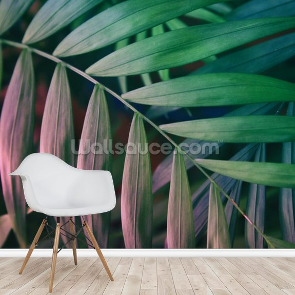 Jungle Leaf wall mural room setting