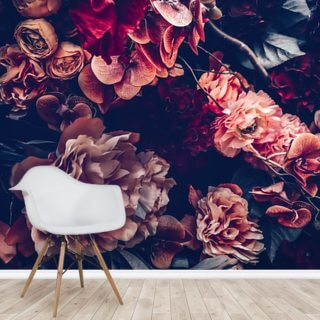 Dark Vintage Floral Wallpaper Wall Murals