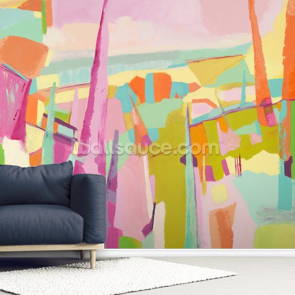 Spring Wildfires wallpaper mural room setting