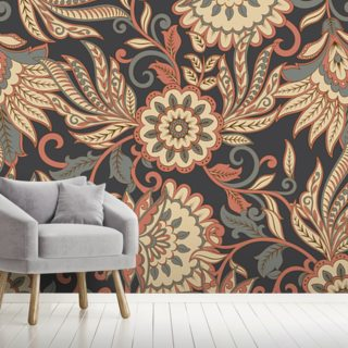 Floral Ethnic Wallpaper Wall Murals