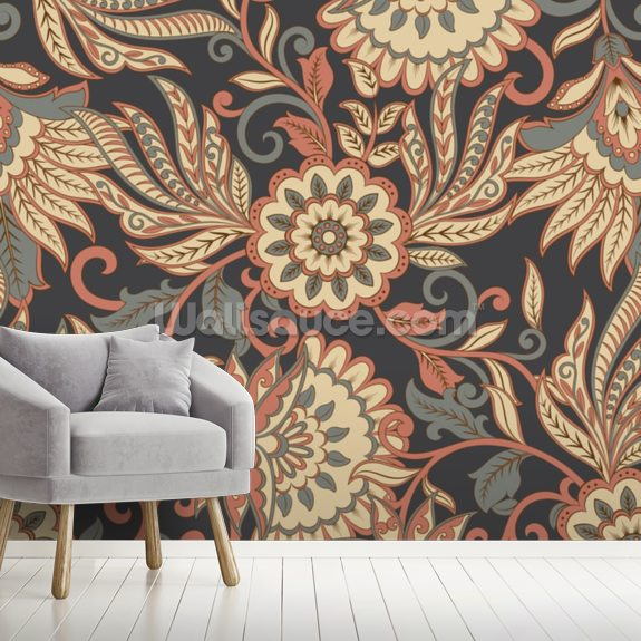 Floral Ethnic Mural Wallsauce Us
