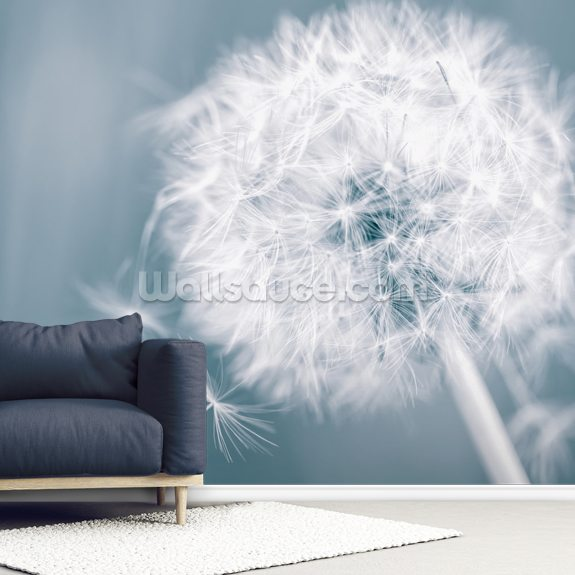 Dandelion Clock wall mural room setting