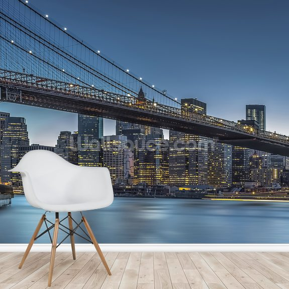 New York - Blue Hour over Manhattan wallpaper mural room setting