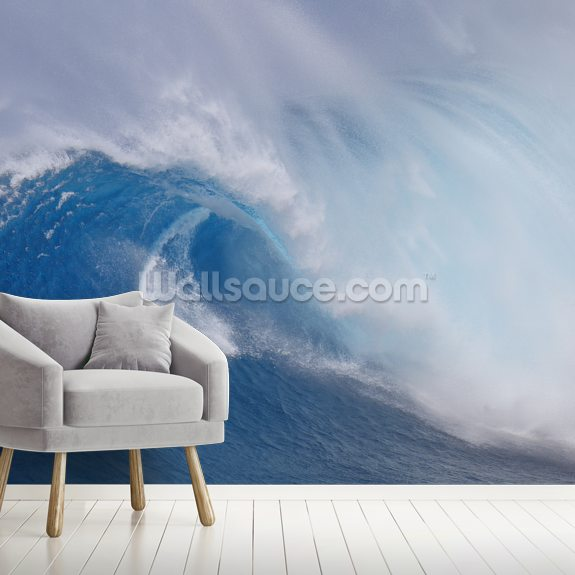 Surfing Jaws wallpaper mural room setting