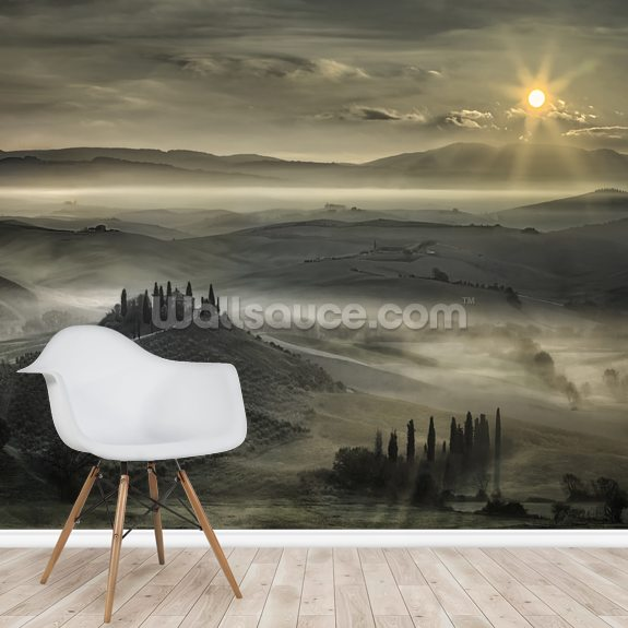 Tuscan Morning wall mural room setting