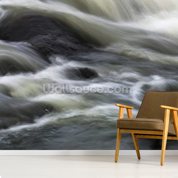 Flowing Contemplation wall mural room setting