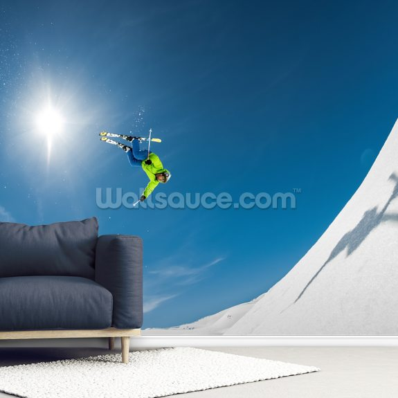 Backcountry Backflip wallpaper mural room setting