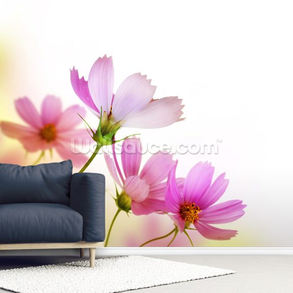 Beautiful Floral Design mural wallpaper room setting