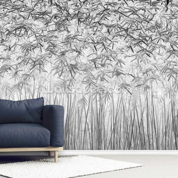 Parallelism mural wallpaper room setting