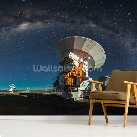 Space Observatory ALMA wallpaper mural room setting