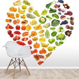 Heart Shape of Fruits and Veg