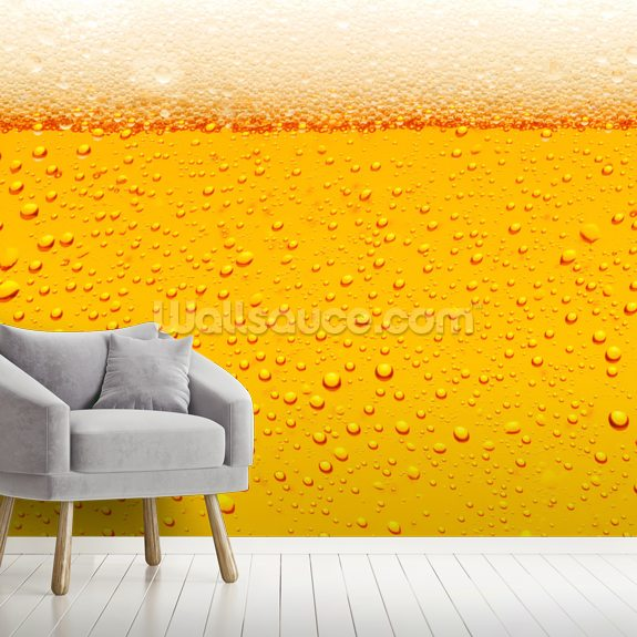 Beer Bubbles wallpaper mural room setting