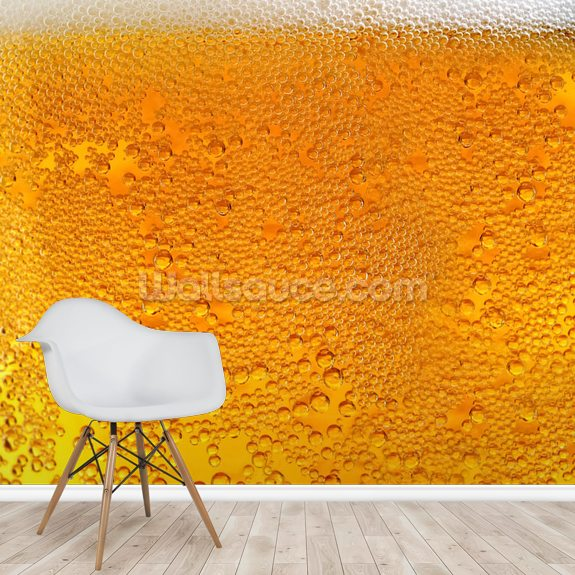 Beer mural wallpaper room setting