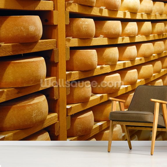 Cheese Stacked wallpaper mural room setting