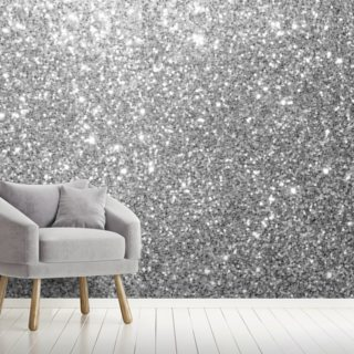 Grey Glitter Wallpaper Wall Murals