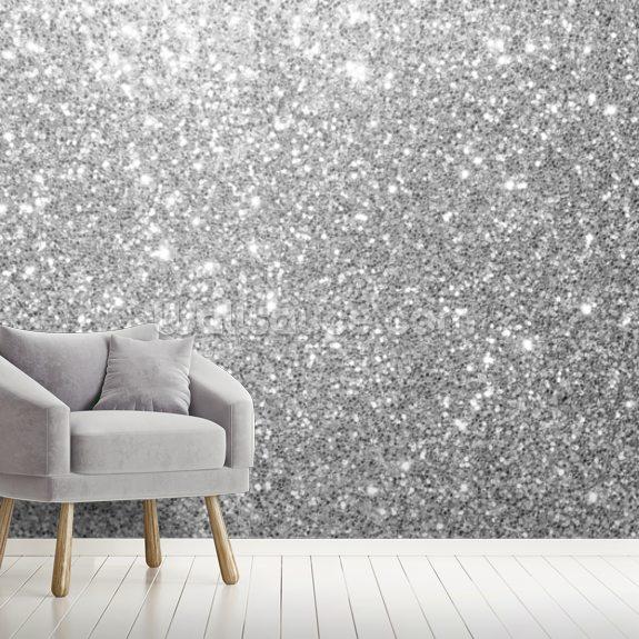 Grey Glitter Wallpaper Wallsauce Nz