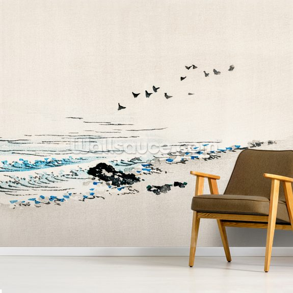Beach Scenery wall mural room setting