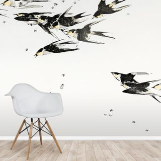 Flying Magpies Wallpaper Wall Murals
