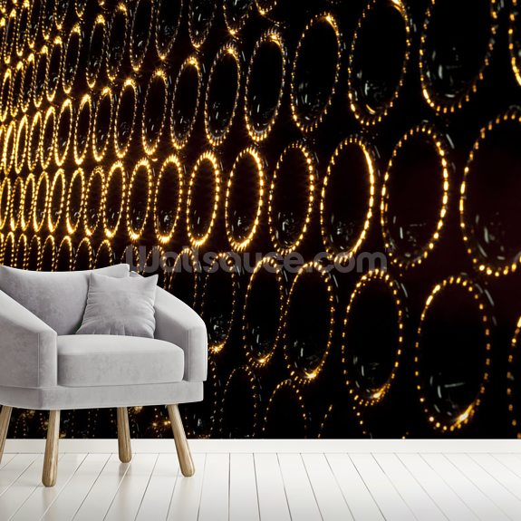 Wine wall mural room setting