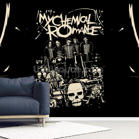 My Chemical Romance Undead wallpaper mural room setting