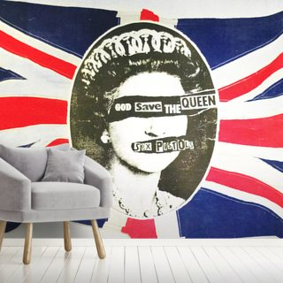 Sex Pistols God Save The Queen Wallpaper Mural Wallsauce Uk