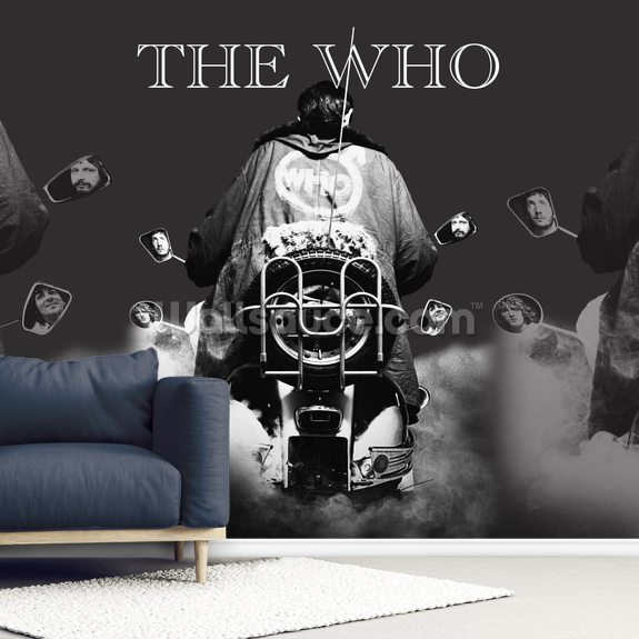 The Who Quadrophenia mural wallpaper room setting