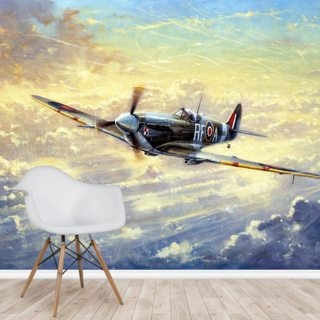 Flying Spitfire Wallpaper Wall Murals