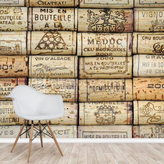 Wine Corks wallpaper mural room setting