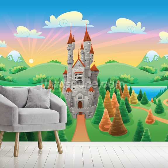 Medieval Castle wallpaper mural room setting