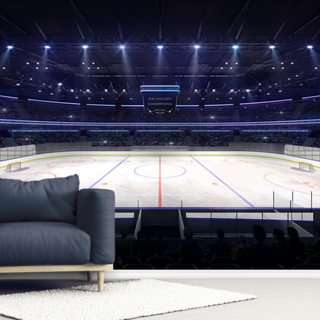 Ice Hockey Arena Lights Wallpaper Wall Murals