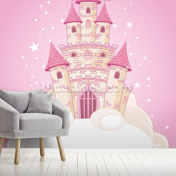Fairy Castle wallpaper mural room setting