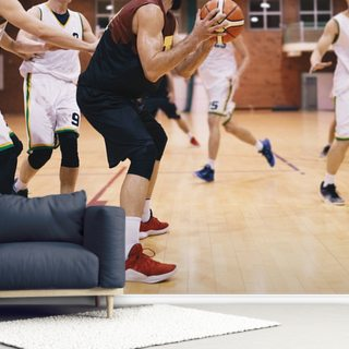 Basketball Court Wallpaper Wall Murals