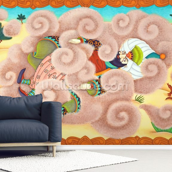 Camel and the Djinn of all Deserts wallpaper mural room setting