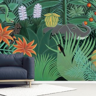 Henri's Jungle Wallpaper Wall Murals