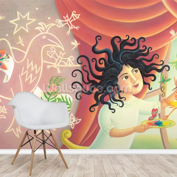 Leonora's Magic wallpaper mural room setting