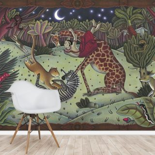 Leopard and the Flora Forest Wallpaper Wall Murals