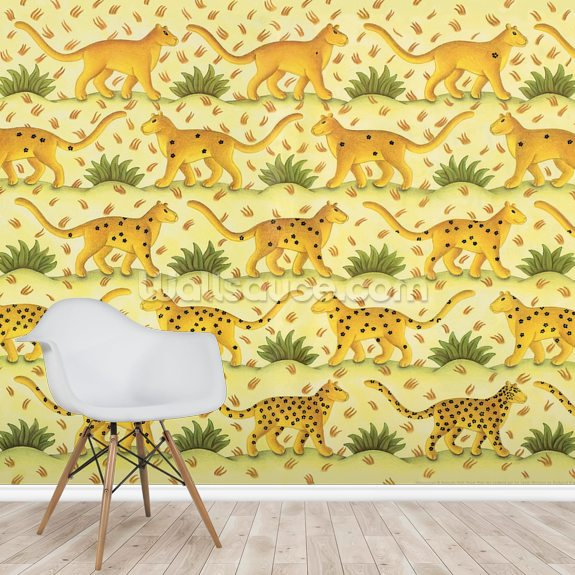 Leopard Spotted wall mural room setting