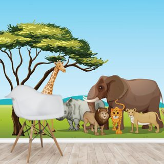 African Safari Cartoon